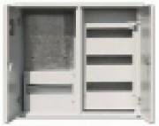 щит металлический (ящик металлический) ЩРУ 3В -48 под 3 фазный счетчик с окном  2-х дверный  600Х500Х155