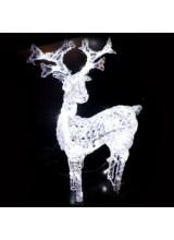 светодиодный олень высота 120см,цвет белый