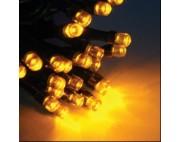 Гирлянда занавес 2*1,5 ,20 нитей по 1,5 метра черный провод,желтый