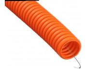 Гофра ПНД 16мм оранжевая с протяжкой (бухта 100м)